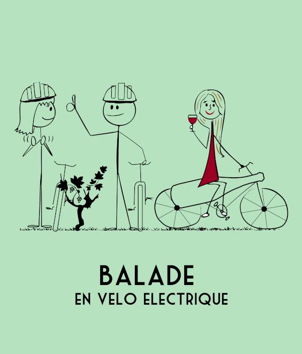 Illustration Balade en vélo électrique