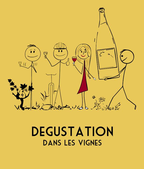Illustration Dégustation dans les vignes